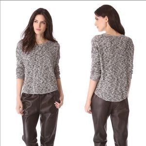 Vince   Marbled Knit Black and Gray Sweater